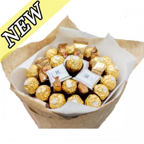 Букет из конфет Ферреро Роше и шоколада